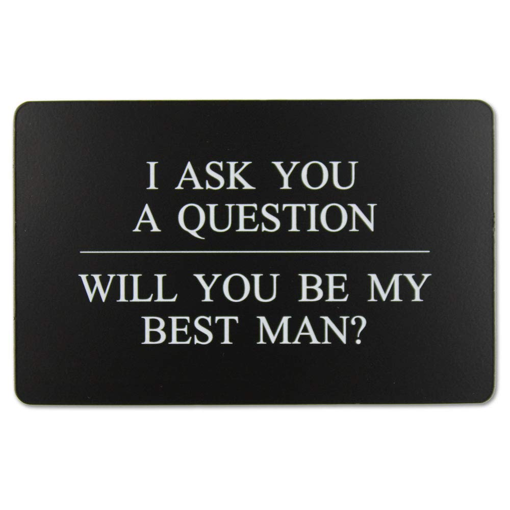 e0948d335f1ff Vanfeis Stainless Steel Funny Junior Best Man Proposal Gifts Cards, The  Black MAN CARD Wedding Invitations with Gold Envelopes, Rustic Bridal Party  ...