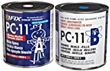 PC Products 128114 PC-11 Two-Part Marine Grade Epoxy Adhesive Paste, 8 lb in Two Cans, Off White