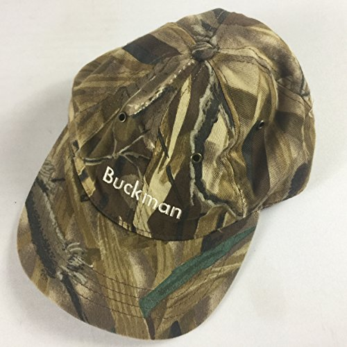 Buckman Hat Vintage Strapback Realtree Camo USA Made Cap Adult Hunting Deer Trees