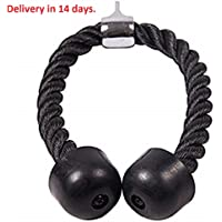 Ashante Store Fitness Equipment - ricep Rope Abdominal Crunches Cable Pull Down Laterals Biceps Muscle Training Fitness Body Building Gym Pull Rope