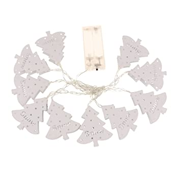 Led Lampen Weihnachtsdeko.Magideal Lichterkette Weihnachtsbaum Form Akkubetrieb 10 Led Lampen
