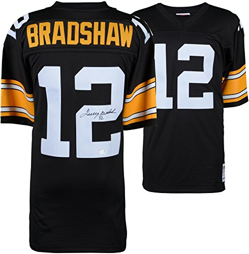 Terry Bradshaw Pittsburgh Steelers Autographed Mitchell & Ness Throwback Black Replica Jersey - Fanatics Authentic Certified