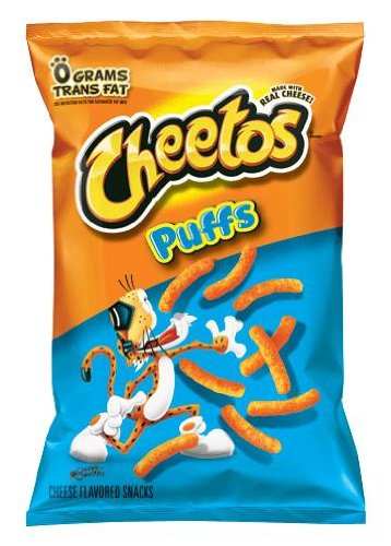 Cheetos Jumbo Puffed Original Cheese Snacks, 9.75oz Bags (Pack of 10)