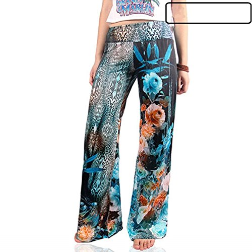 Estivi 15 Libero Size Eleganti Colour Allentato Stampate Pantaloni Larghi Pantaloni Tempo Chic Larghi Donna Pants Pantaloni M Baggy Color Pantalone Cute Vintage Fashion Accogliente xwB1qzYa