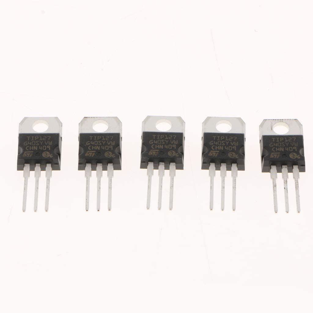 5 Stück TIP127 Darlington NPN Transistoren Kit 5A 60 100V 3 PIN IC Schwarz