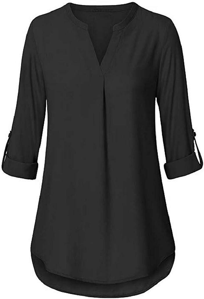 Luckycat Camisas Mujer Elegantes Tallas Grandes, Camisetas Mujer ...