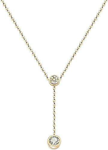 Amazon Com Barode Fashion Rhinestone Necklace Dainty Pendant