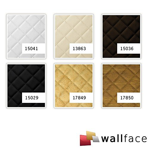 WallFace 13863 ROMBO Wall panel self-adhesive Leather design plaid Luxury wallcovering wallplate cream | 2,6 sqm by Wallface (Image #3)