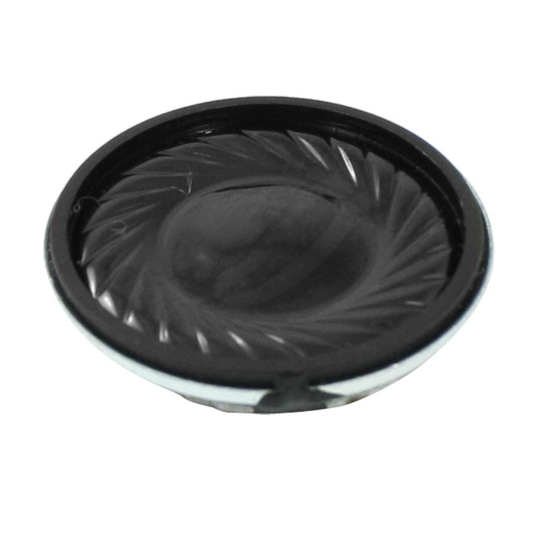 uxcell 1 Watt 8 Ohm 28mm Dia Magnetic Type Aluminum Round Speaker Silver Tone Black