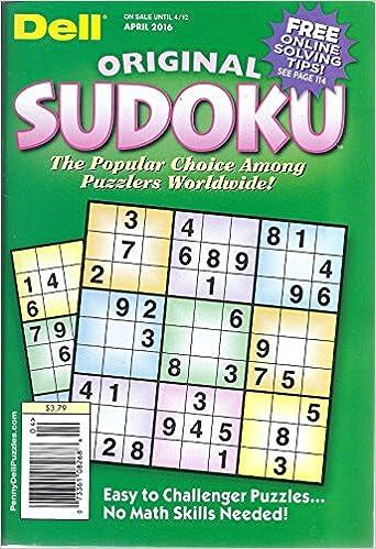 graphic regarding Sudoku Puzzles Printable Pdf titled Dell Unique Sudoku Puzzles (April 2016) - Fresno To start with