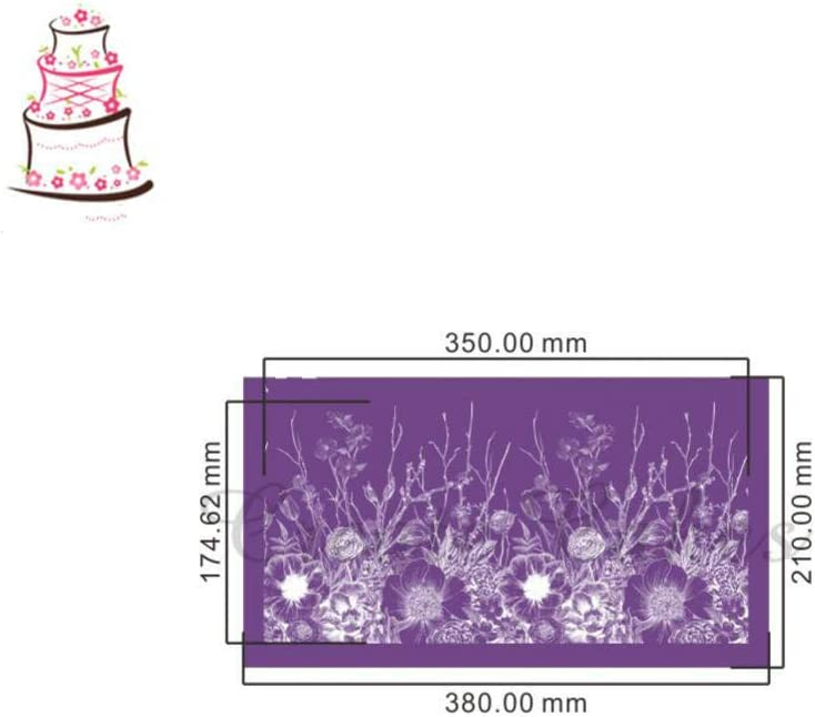 Oulensy Alles W/ächst Kuchen Stencil Blumen-Spitze-ineinander Greifen-schablonen F/ür Hochzeitstorte Border Stencils Fondantform Kuchen Der Werkzeuge