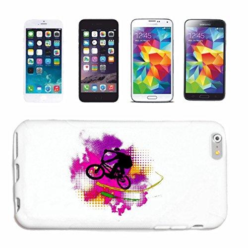 """cas de téléphone iPhone 7+ Plus """"BMX VÉLO VINTAGE MOTOCROSS BIKE FREESTYLE Chopper MOUNTAINBIKE"""" Hard Case Cover Téléphone Covers Smart Cover pour Apple iPhone en blanc"""