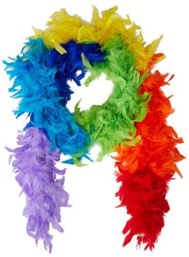 Beistle 60307-RB 40gm Rainbow Fancy Feather Boa, 6-Feet]()