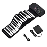 Donner Roll Up Piano Keyboard 88 Keys,Portable with Pedal for Beginners or Finger