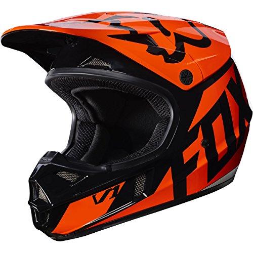 Motocross Helmet Orange (Fox Racing Race  Youth/Kids  V1 Motocross Motorcycle Helmet - Orange / Large)