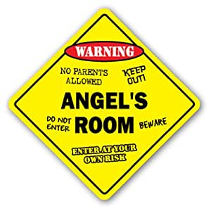 Sinluen Divertido Cartel de Regalo para habitación de ángel ...