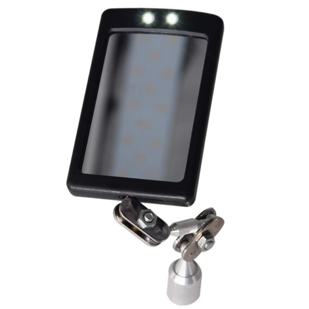 Swivel Angle Ball Joint Antenna Mirror. HARDK LED Inspection Mirror Lighted Magnetic Base Welding Magnet