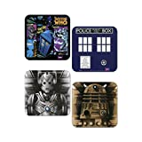 Doctor Who Set Of 4 Coasters
