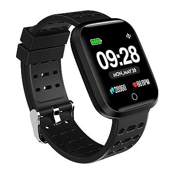 Azorex SmartWatch Multifunción Reloj Inteligente Cuadrado Deportivo Impermeable IP67, Pulsera Actividad Control Remoto para iPhone Xiaomi, Huawei Samsung ...