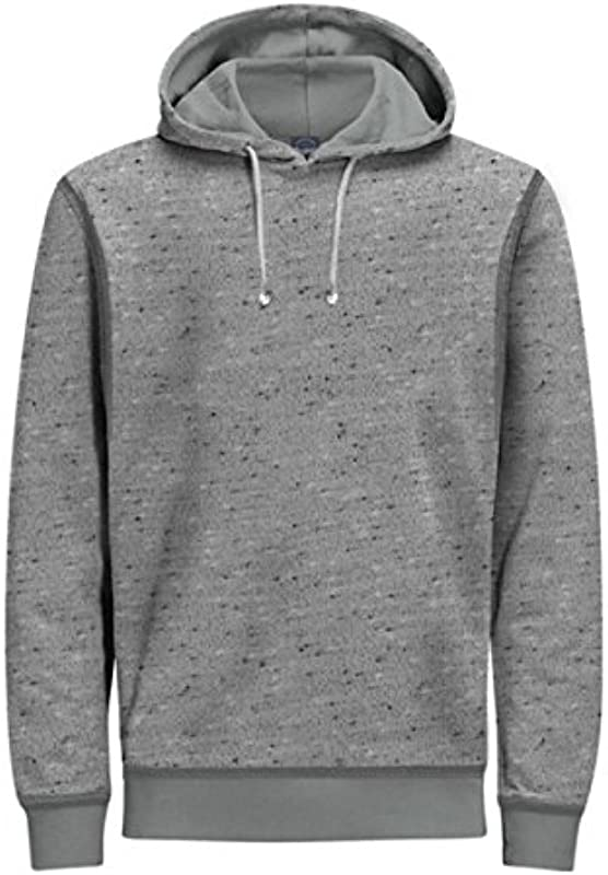 Jack & Jones Sweater jortake Sweat Hood 12139359 Light Grey Melange W18-jjs1 sizemap X-Large - xl jasnoszary melanżowy: Odzież
