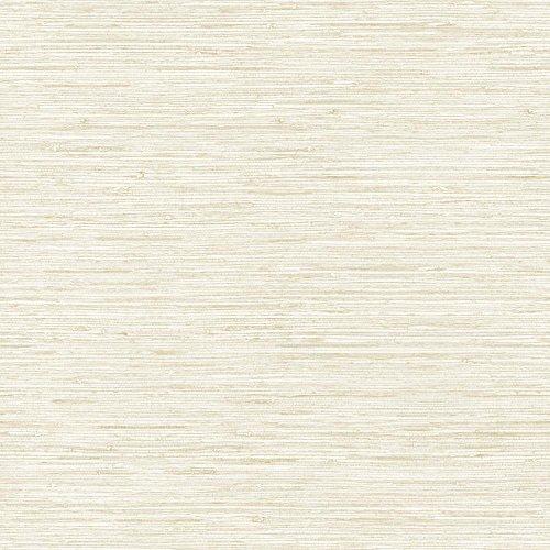 Beige Textured Grass Cloth Wallpaper - York Wallcoverings Nautical Living Horizontal Grass Cloth Removable Wallpaper, White/Beige/Gold Vein