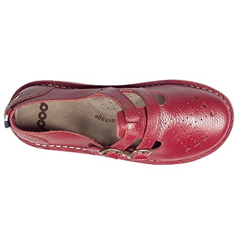 POD Pod Heritage Ladies Marley Cardinal Red T-Bar Sandals UK 5
