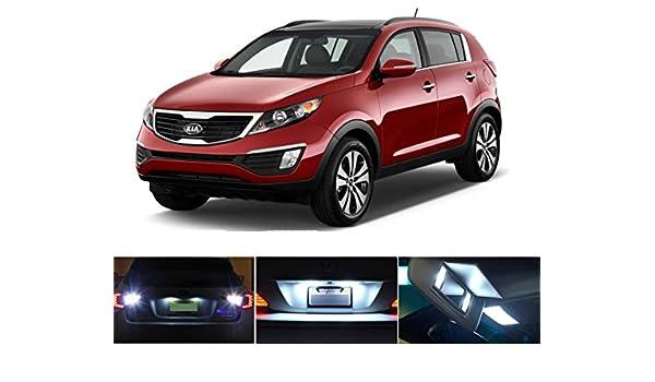 Luces LED para 2011 - 2016 Kia Sportage Xenon Blanco etiqueta de placa de licencia/luces LED bombillas (2 piezas): Amazon.es: Coche y moto