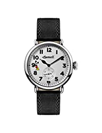 Ingersoll Men's Quartz Stainless Steel and Leather Casual Watch, Color:Black (Model: ID01202)