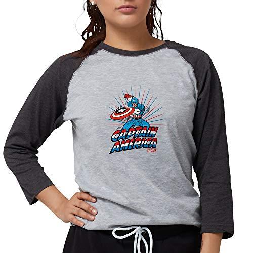 CafePress Captain America Womens Baseball Tee
