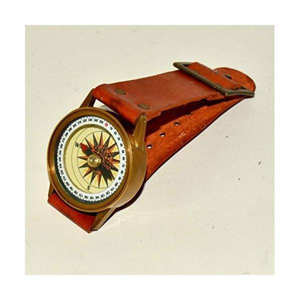 Antique Steampunk Wrist Brass Compass & Sundial-Watch Type Sundial@ 4