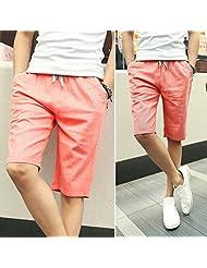 2016 Summer men's high quality linen pants cotton linen five pants City boy linen pants , light gray , xxxl