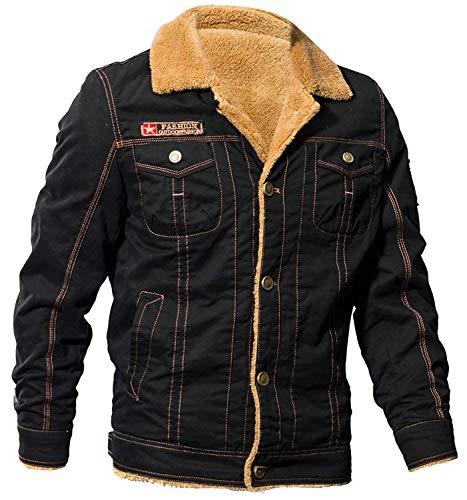 Abiti Da Schwarz Bomber Taglie Cotone Pesante Comode Cashmere Invernale Hx Foderate In Giacche Fashion Outdoor Uomo Caldo t1CZBqw