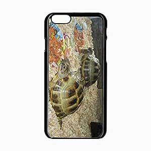 iPhone 6 Black Hardshell Case 4.7inch aquarium turtles couple sawdust Desin Images Protector Back Cover