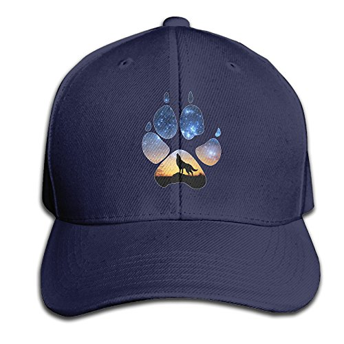 Wolf Paw G Galaxy Dusk Wolf Snapback Sandwich Cap Navy Baseball Cap Hats Adjustable Peaked Trucker - Hats Ti