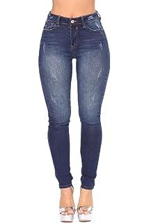 Yacun Femmes Les Jeans Skinny Jeans Taille Haute Crayon Pantalon Stretch d5a2c7d4ba64