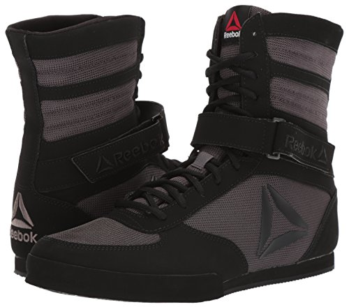 Reebok Men's Boxing Boot Cross Trainer, Buck-Black/ash Grey, 9.5 M US