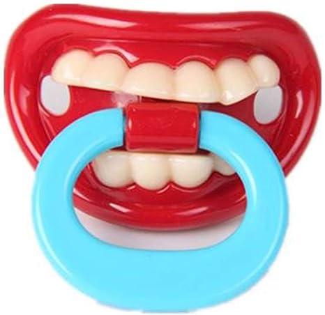 Newin Star Los dientes de leche divertido chupetes divertidos Chupete de silicona suave beso linda con el regalo de la ducha de labios del bebé para un infante recién nacido Toddle: Amazon.es:
