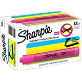 Sharpie Tank Style Highlighters, Chisel Tip, Fluorescent Pink, Box of 12