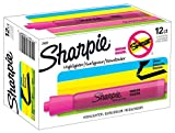 Sharpie 25009 Sanford Brands Tank Highlighters, Chisel Tip, Fluorescent Pink, 12-Count