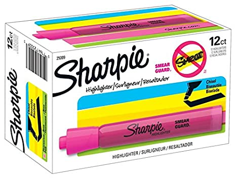 Sharpie ACCENT Highlighter, Tank Highlighter Chisel, 12 Pack, Fluorescent Green (25026) Sanford L.P.