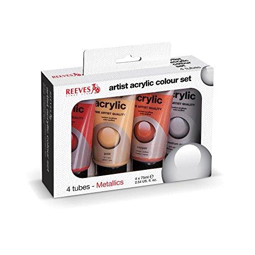 reeves-4-pack-acrylic-color-metallic-tube-set-75ml