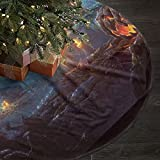 WEEDKEYCAT Christmas Tree Skirt,Halloween Themed Wallpaper,Xmas Tree Skirts,Indoor Outdoor Printed Holiday Decorations