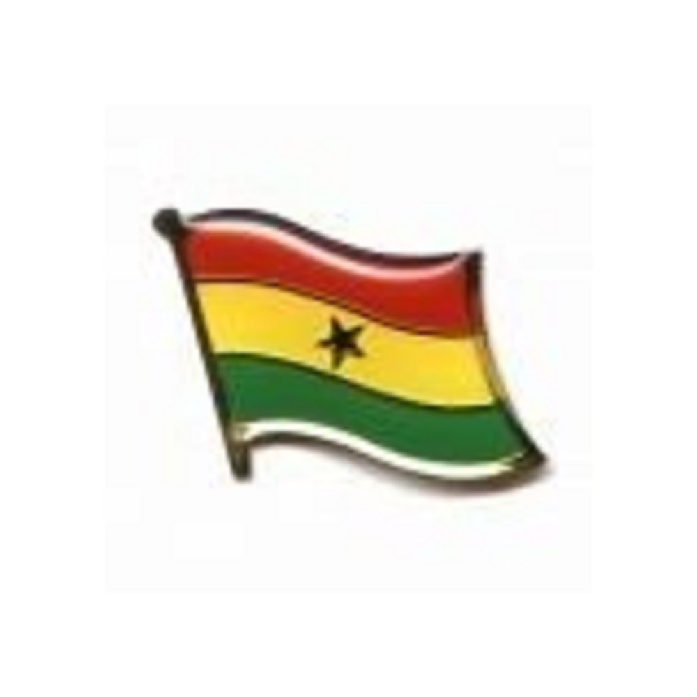 Ghana Country Flag Small Metal Lapel Pin Badge ... 3/4 X 3/4 Inches ... New
