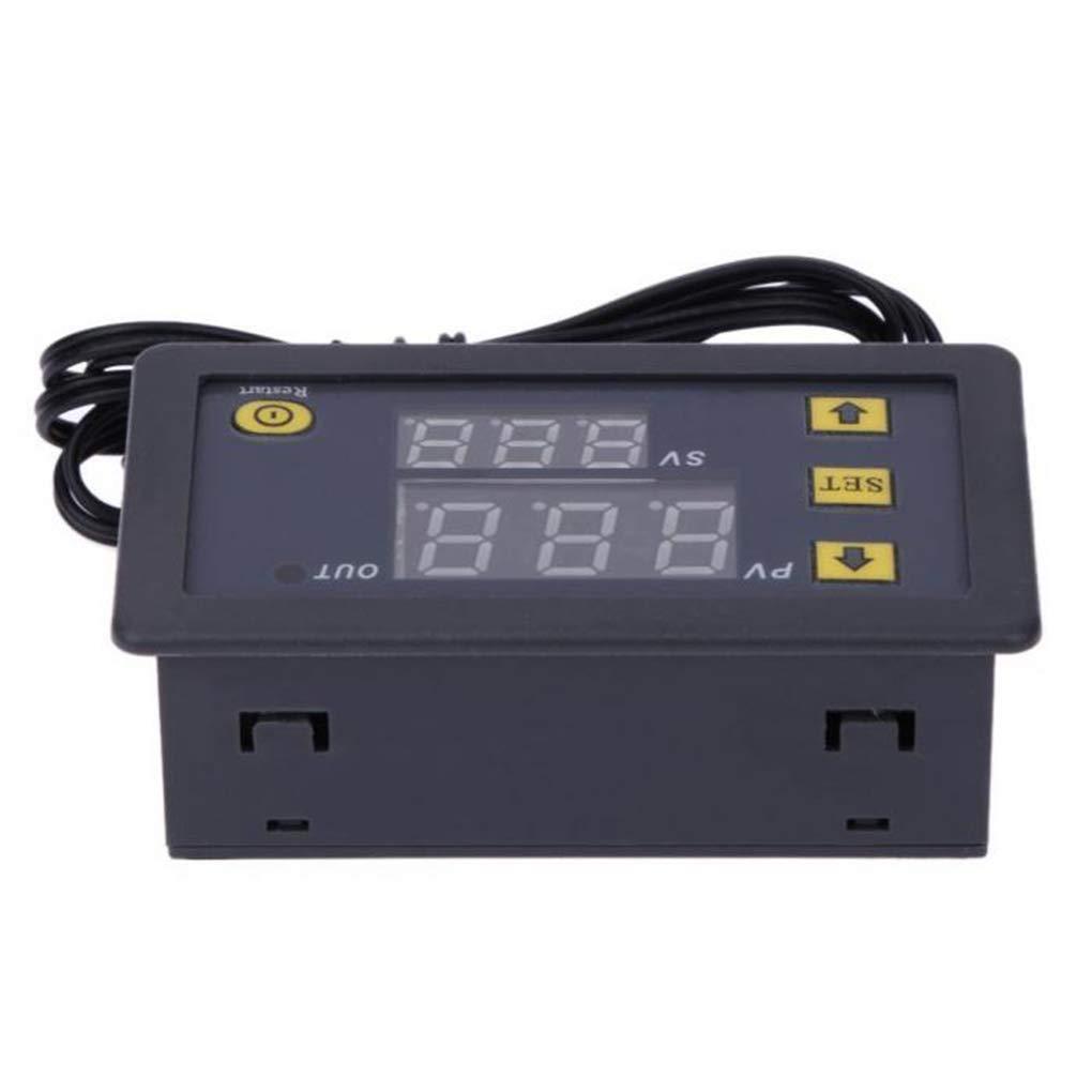 fgyhty 12V 20A W3230 LCD Digital Thermostat Temperature Controller Meter Regulator High Temp Alarm
