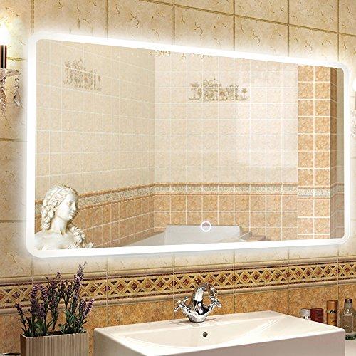 NEUTYPE 47u0027u0027 X 31u0027u0027 Backlit Mirror Bathroom Sink Mirror Horizontal And  Vertical