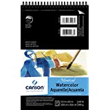"""CANSON 140 lb/300g Montval Watercolor Wire Bound Pad, 5.5 x 8.5"""", 12 Sheets"""