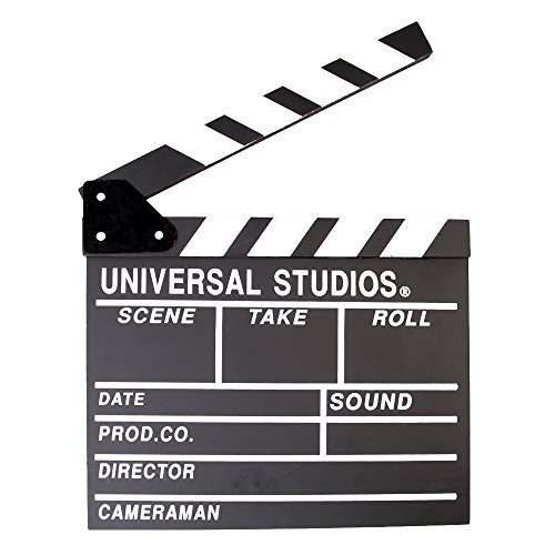 BERON Professional Vintage TV Movie Film Clap Board Slate Cut Prop Director Clapper (Black)