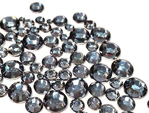 Resin Black Diamond round Rhinestones Flatback 450 pc 2mm - 6mm Mix SIZEship with FREE GIFT from YOYOLE