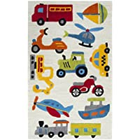 Rizzy Home PD579A Play Day Hand-Tufted Area Rug, Ivory, 3 x 5