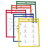 C-Line Reusable Dry Erase Pockets, 6 x 9 Inches, Assorted Primary Colors, 10 Pockets per Pack (41610) Size: 6 x 9-Inch Color: Assorted Primary Colors (Pack of 10) Model: 41610 Office Supply Product Store